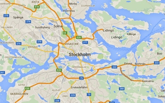 שטוקהולם מפה